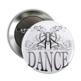 "DANCE (gray) 2.25"" Button"