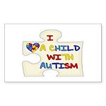 Autism Love Rectangle Sticker 10 pk)
