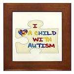 Autism Love Framed Tile
