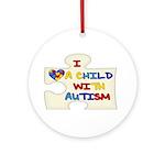 Autism Love Ornament (Round)