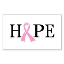 CURE CANCER Rectangle Decal