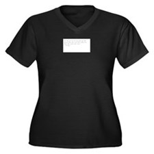Cute Meaningful quote Women's Plus Size V-Neck Dark T-Shirt