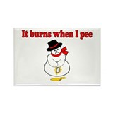 It Burns When I Pee Rectangle Magnet (10 pack)