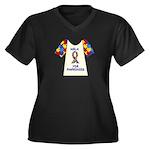 Walk 4 Autism Women's Plus Size V-Neck Dark T-Shir
