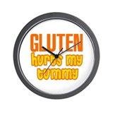 Gluten Hurts My Tummy Wall Clock