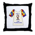 Walk 4 Autism Throw Pillow