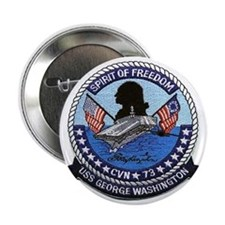 USS George Washington CVN 73 Button