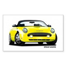 2002 05 Ford Thunderbird yellow Decal
