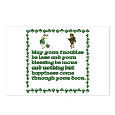 Irish Sayings, Toasts and Ble Postcards (Package o