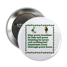 "Irish Sayings, Toasts and Ble 2.25"" Button (10 pac"