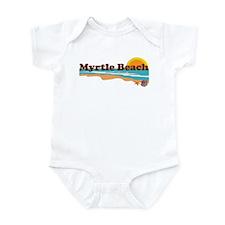 Myrtle Beach SC - Beach Design Infant Bodysuit