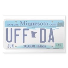 Uffda Rectangle Decal