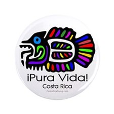 "Pura Vida Fish 3.5"" Button"