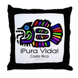 Pura Vida Fish Throw Pillow
