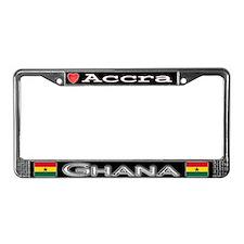 Accra, GHANA - License Plate Frame