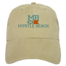 Myrtle Beach SC - Nautical Design Baseball Cap