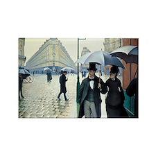Paris Street, Rainy Day Rectangle Magnet