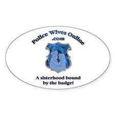 Police Wives Online Sheild Lo Oval Decal