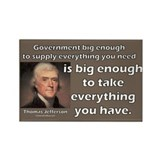 Thomas Jefferson: Big Enough Rectangle Magnet (100