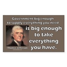 Thomas Jefferson: Big Enough Rectangle Sticker 50
