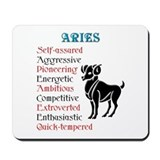 Aries Horoscope Mousepad