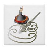 Flamenco Tile Coaster