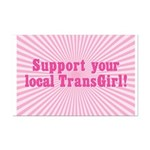 Support Your Local TransGirl Mini Poster Print