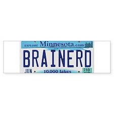 Brainerd License Plate Bumper Bumper Sticker