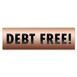 Debt Free! Bumper Sticker