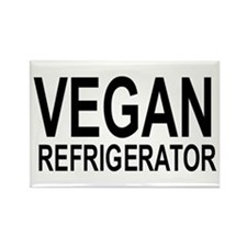 Unique Vegetarian Rectangle Magnet