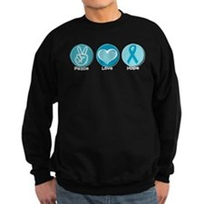 Peace Love Teal Hope Sweatshirt