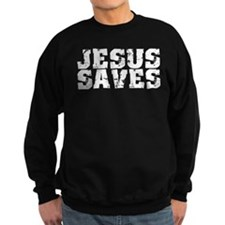 Jesus Saves bk Sweatshirt