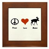 Peace, Love Maine Framed Tile