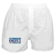 Minneapolis License Plate Boxer Shorts