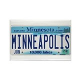 Minneapolis License Plate Rectangle Magnet (100 pa