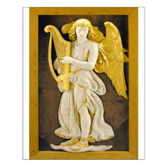 Angel With Golden Harp Posters