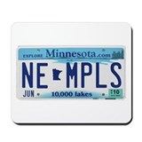 NE Minneapolis License Plate Mousepad