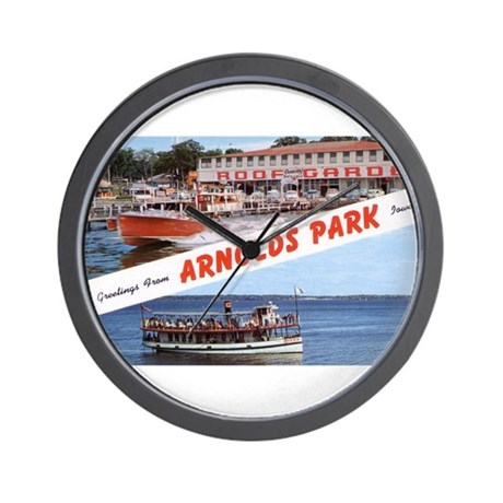 1958 Views of Arnolds Park Wall Clock