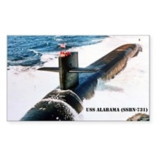 USS ALABAMA Rectangle Decal
