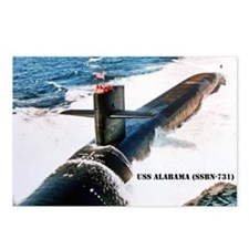 USS ALABAMA Postcards (Package of 8)