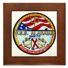 USS ALABAMA Framed Tile