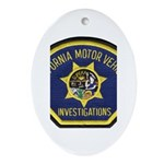 California DMV Investigator Oval Ornament