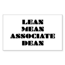Lean Mean Associate Dean Rectangle Decal