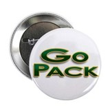 "Go Pack! Green Bay Graphic T- 2.25"" Button"