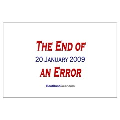 """""""End of an Error"""" Large Poster"""