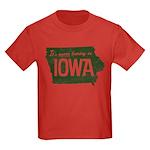 Iowa Boring Kids Dark T-Shirt