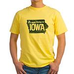 Iowa Boring Yellow T-Shirt
