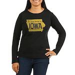 Iowa Boring Women's Long Sleeve Dark T-Shirt