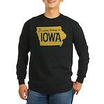 Iowa Boring Long Sleeve Dark T-Shirt