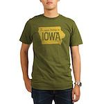 Iowa Boring Organic Men's T-Shirt (dark)